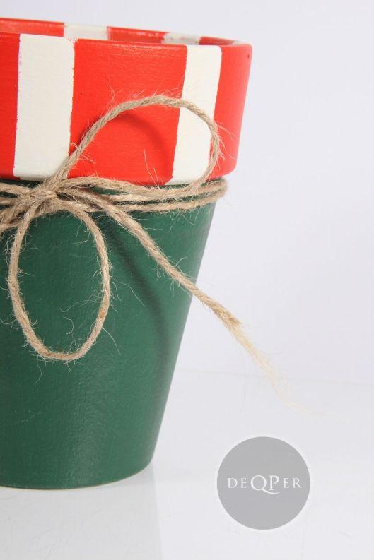 doniczka malowana własnoręcznie farba kredowa farba tablicowa blog sklep